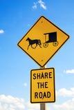 Sinal de estrada de Amish imagens de stock royalty free