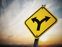 Sinal de estrada de duas maneiras Imagem de Stock