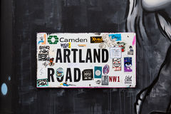Sinal de estrada de Hartland Imagens de Stock Royalty Free