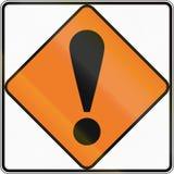 Sinal de estrada de Nova Zelândia - outros perigos ilustração royalty free