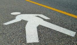 Sinal de estrada de passeio do homem Imagens de Stock