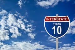 Sinal de estrada de um estado a outro Imagem de Stock