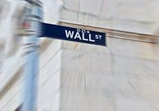 Sinal de estrada de Wall Street Fotos de Stock