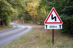 Sinal de estrada do enrolamento Imagem de Stock