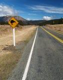 Sinal de estrada do quivi Imagem de Stock