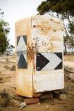 Sinal de estrada do refrigerador Imagens de Stock