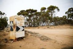 Sinal de estrada do refrigerador Imagem de Stock