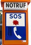 Sinal de estrada do SOS Fotografia de Stock