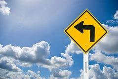 Sinal de estrada e céu azul agradável Imagem de Stock