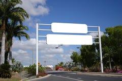 Sinal de estrada em branco Fotos de Stock