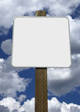 Sinal de estrada em branco Imagens de Stock Royalty Free