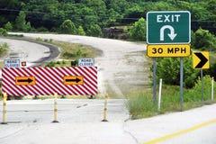 Sinal de estrada fechado Imagens de Stock