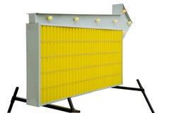 Sinal de estrada informativo em branco amarelo Imagens de Stock