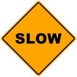 Sinal de estrada lento Imagens de Stock