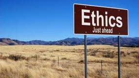 Sinal de estrada marrom das éticas Imagem de Stock Royalty Free