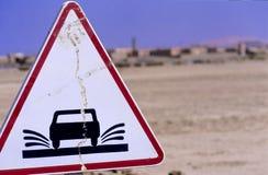 Sinal de estrada marroquino no.2 Fotografia de Stock