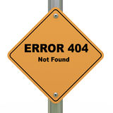 Sinal de estrada não encontrado do erro 404 Imagens de Stock Royalty Free