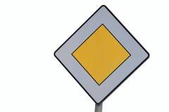 Sinal de estrada - prioridade - isolado Fotografia de Stock Royalty Free