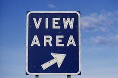 Sinal de estrada que diz a área da vista Imagem de Stock
