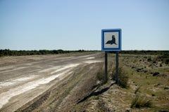 Sinal de estrada raro agradável Imagem de Stock Royalty Free