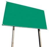 Sinal de estrada verde em branco Foto de Stock Royalty Free