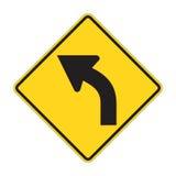 Sinal de estrada - volta esquerda ilustração do vetor
