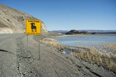 Sinal de estrada de Yukon imagens de stock royalty free