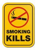 Sinal de fumo da matança Imagem de Stock Royalty Free
