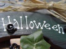 Sinal de Halloween Imagens de Stock