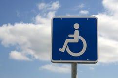 Sinal de Handicaped Fotografia de Stock