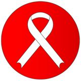 Sinal de HIV/AIDS - bandeira ilustração royalty free