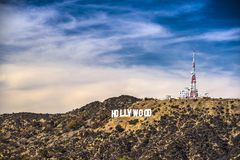 Sinal de Hollywood Foto de Stock