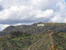 Sinal de Hollywood de Griffith Observatory em Los Angeles foto de stock