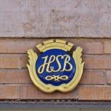 Sinal de HSB fotografia de stock