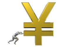 Sinal de ienes japoneses Foto de Stock Royalty Free