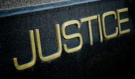 Sinal de justiça Imagem de Stock Royalty Free