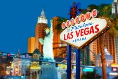 Sinal de Las Vegas Foto de Stock Royalty Free