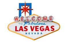 Sinal de Las Vegas isolado no branco Fotografia de Stock