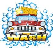 Sinal de lavagem do carro Imagem de Stock Royalty Free