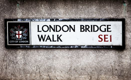 Sinal de Londres Fotos de Stock Royalty Free