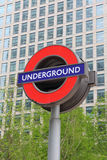 Sinal de Londres subterrâneo Imagem de Stock Royalty Free