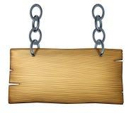 Sinal de madeira Fotos de Stock Royalty Free