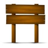Sinal de madeira 003 ilustração do vetor