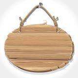 Sinal de madeira com a corda que pendura em um prego. Fotos de Stock Royalty Free