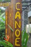 Sinal de madeira de Conoe Fotografia de Stock