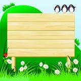 Sinal de madeira customizável Imagem de Stock Royalty Free