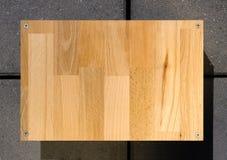 Sinal de madeira da placa Fotografia de Stock