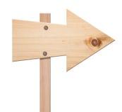 Sinal de madeira da seta isolado, Fotografia de Stock Royalty Free
