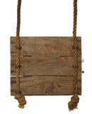 Sinal de madeira de suspensão Imagens de Stock Royalty Free