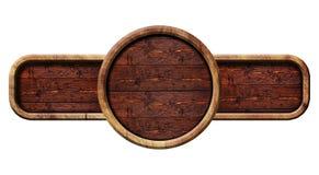 Sinal de madeira do círculo, ilustração Fotos de Stock Royalty Free